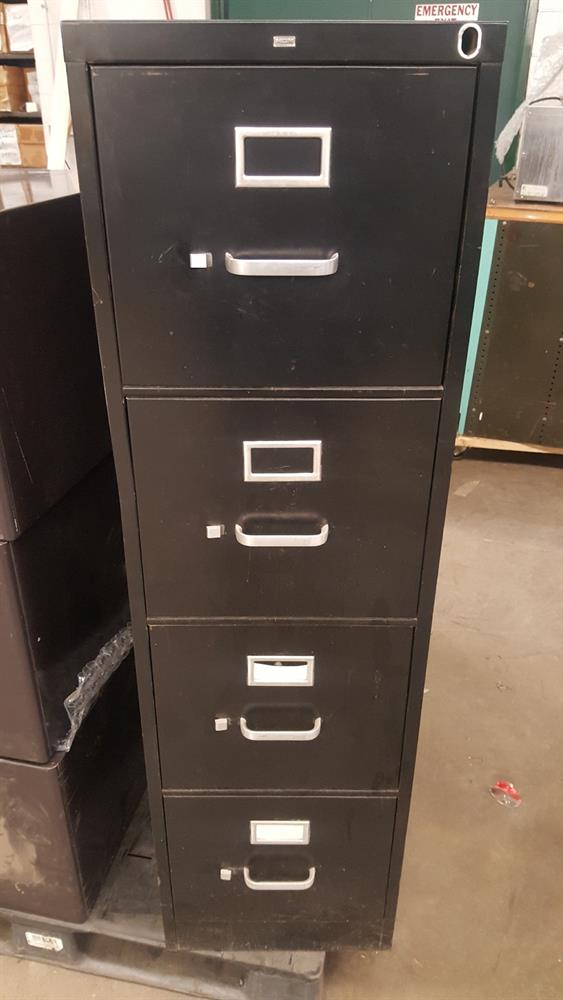 Hon Vertical 4 Drawer Letter Filing Cabinet With File