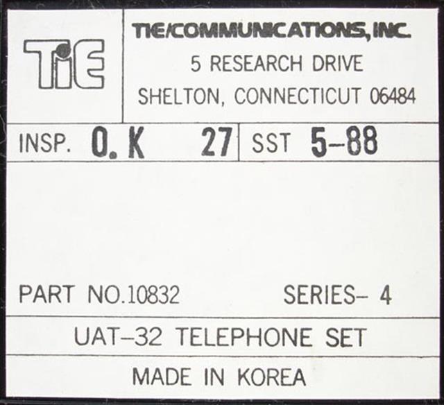 Tie 10832 - UAT-32 (NIB) Phone image