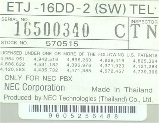ETJ-16DD-2 / 570515 (B-Stock) NEC image