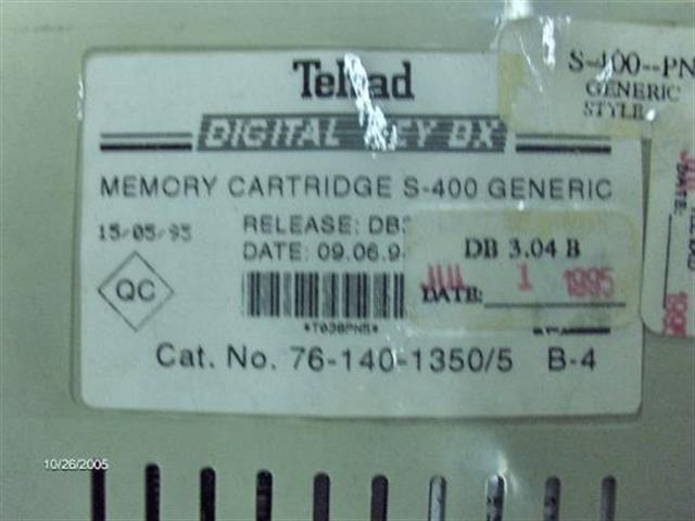 Telrad 76-140-1350 Memory Cartridge image