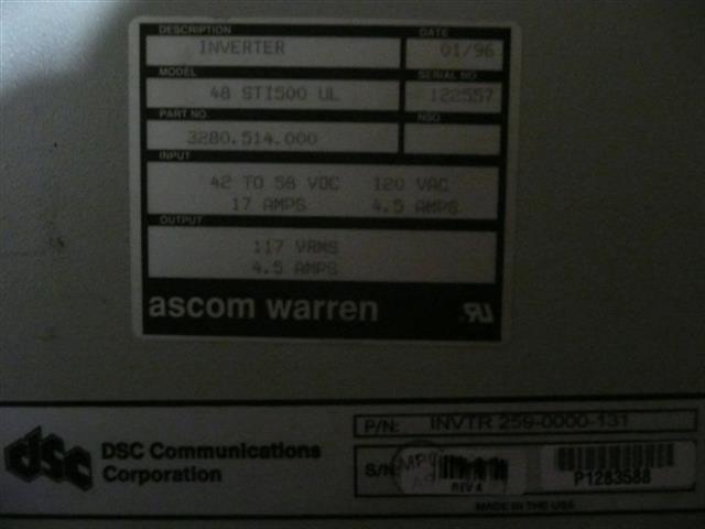DSC 259-0000-131 / 3280.514.000 Inverter image