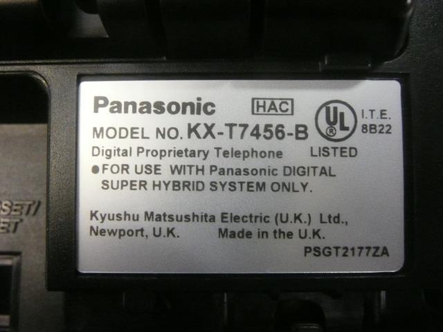 Panasonic Digital Super Hybrid KX-T7456B Black 30 Button Digital Telephone with Large Backlit Display and Speakerphone image
