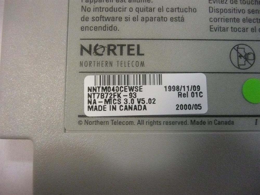 Nortel-Norstar NT7B72FK Software Cartridge image