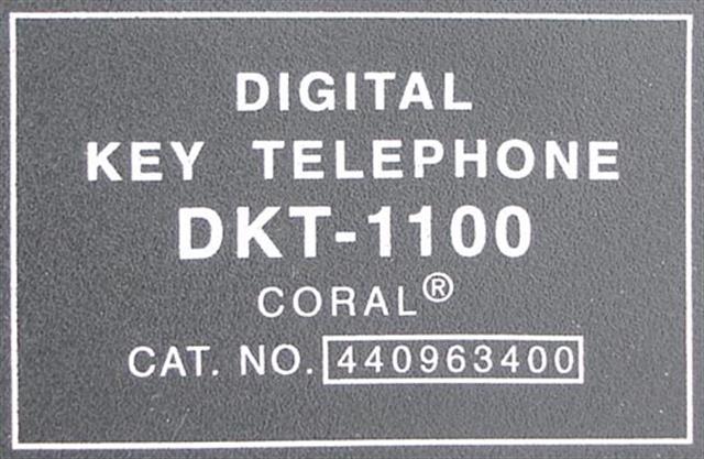 Tadiran DKT1100 (440963400) V5 or Higher Black Phone image