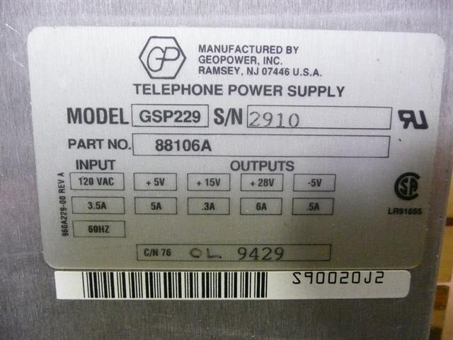 NEC - Nitsuko - Tie 88106A Power Supply image