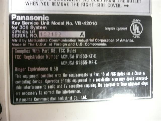 Panasonic VB-42010 KSU image