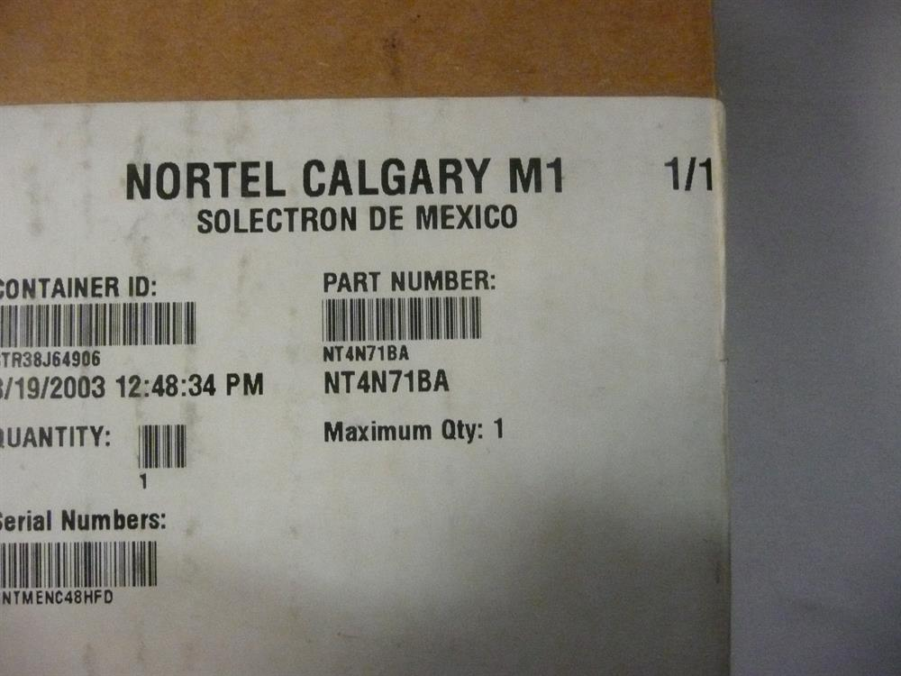 NT4N71BA / (NIB) NEW IN BOX Nortel image