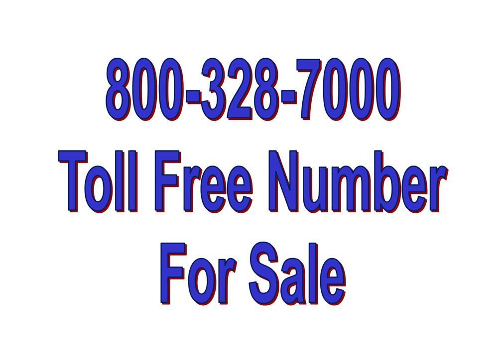 Toll Free Vanity Number 800-328-7000 image