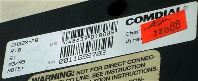 Comdial Impression DU32X-FB Flat Black 32 Button DSS/BLF Console image