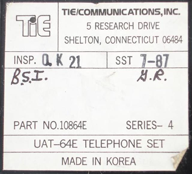 Tie 10864E - UAT-64E Phone image