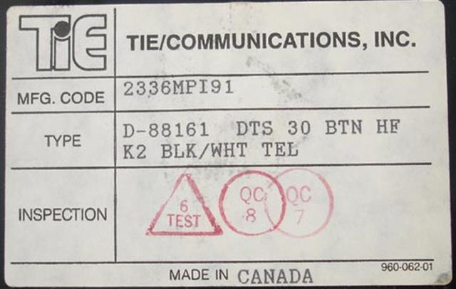 NEC - Nitsuko - Tie 88161 Phone image