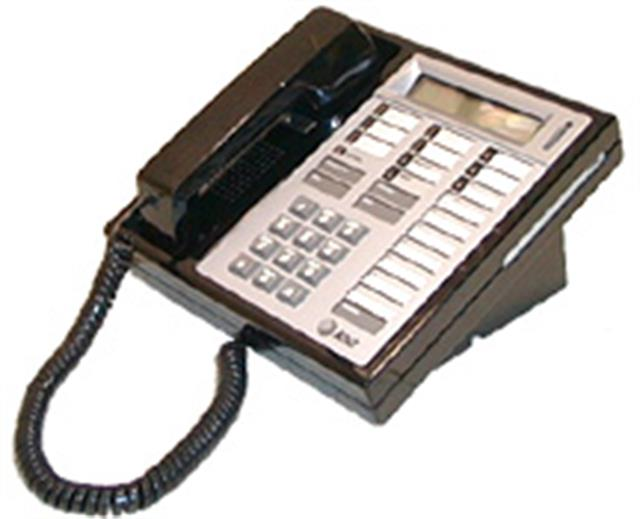 Lucent 7406D01 Black 18 Button Telephone with Display image