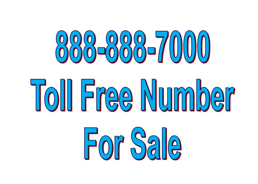 Toll Free Vanity Number 888-888-7000 image