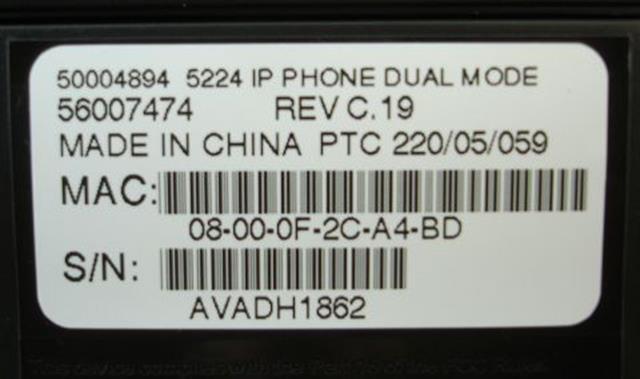 Mitel 50004894 (NIB) IP Phone image