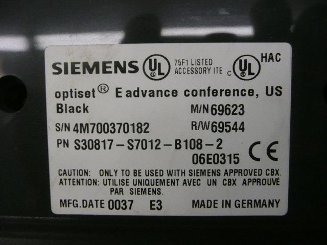 Siemens S30817-S7012-B108 / 69623 Phone image