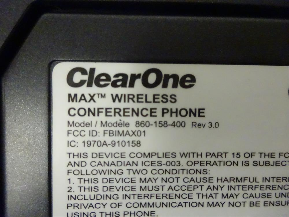 ClearOne 860-158-400 Conference Phone image