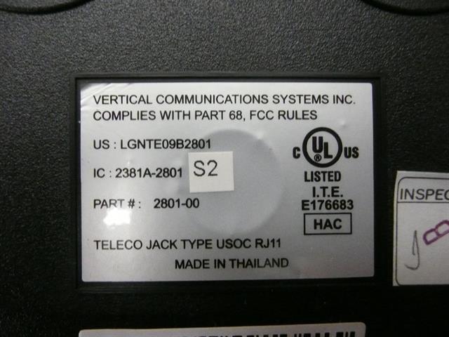 2801-00 (NIB) Vertical Vodavi image