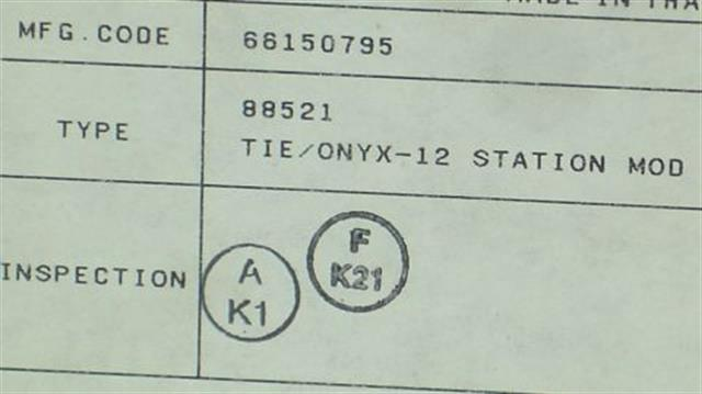 NEC - Nitsuko - Tie 88521 Circuit Card image