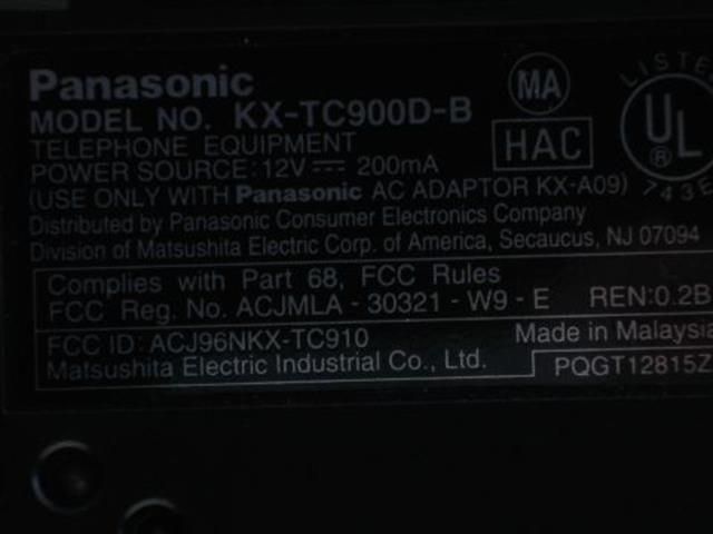 Panasonic KX-TC900D Phone image