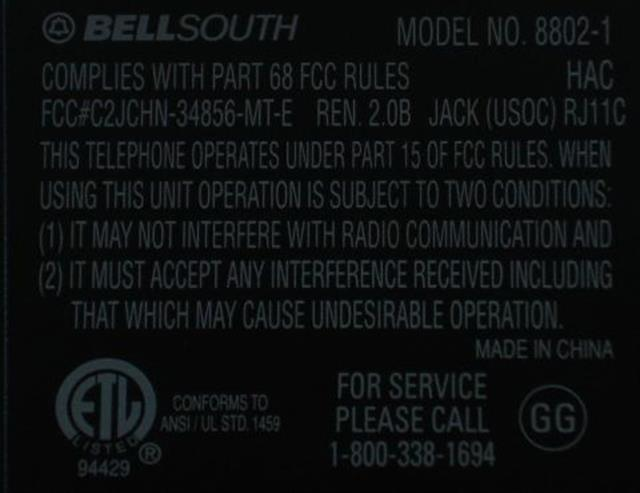 BellSouth 8802-1 Phone image