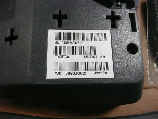 Avaya 4602SW 700257934 2 Button Self-Labeling VoIP Telephone image