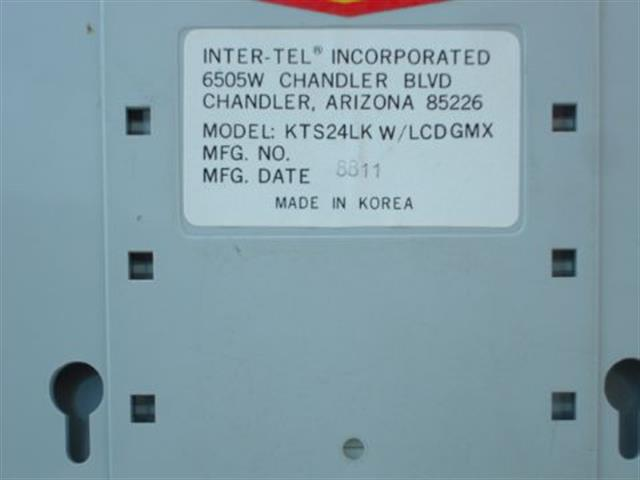 Inter-Tel 662.3100 Phone image