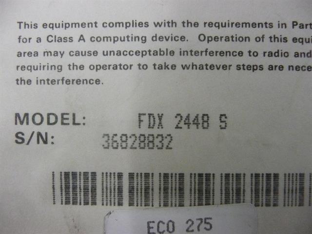 FastComm FDX 2448S Modem image
