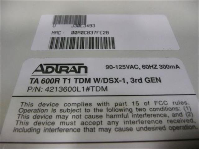Adtran 4213600L1#TDM Router image