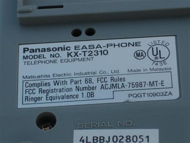 Panasonic KX-T2310 Phone image