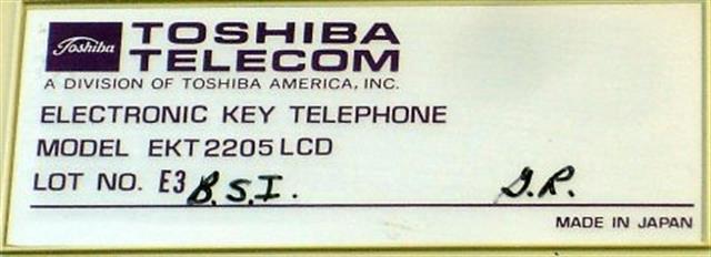 Toshiba 2205 LCD Phone image