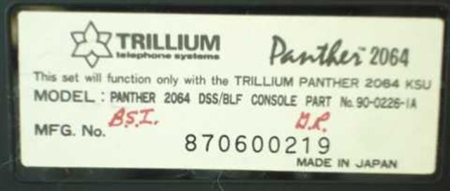 Trillium 90-0226 Console image