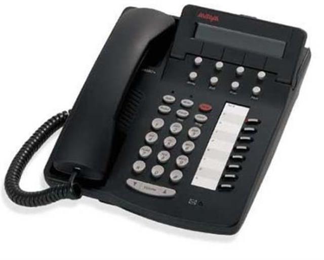 Avaya 6408D+ 108163924 Black 8 Button Digital Telephone with Display image