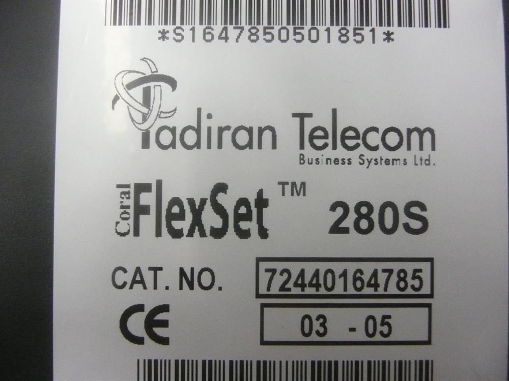 Tadiran 280S (72440164700  / 72440164785) Charcoal Phone image