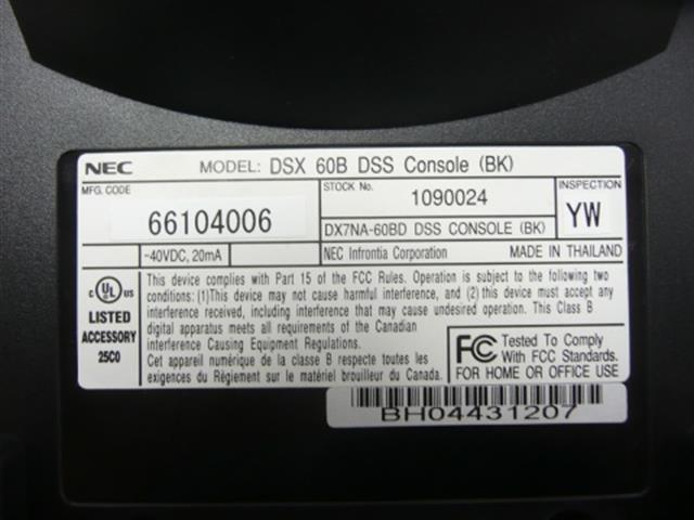NEC 1090024 / DX7NA-60BD Phone image