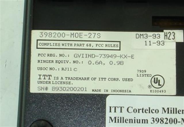 ITT Cortelco 398200-MOE-27S Phone image