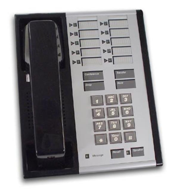 AT&T Merlin 10-STD 7303H Black 10 Button Electronic Telephone image