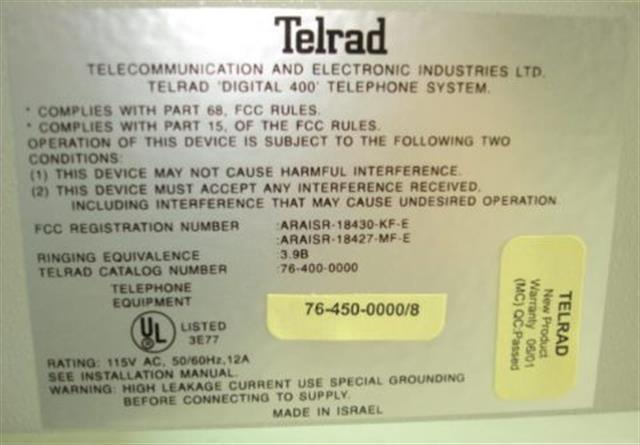Telrad 76-450-0000/8 KSU image