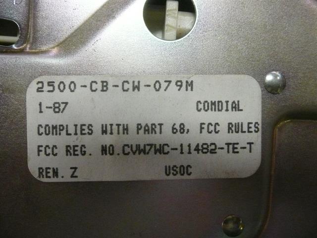 Comdial 002500-CB-CW-079M1-87 Phone image