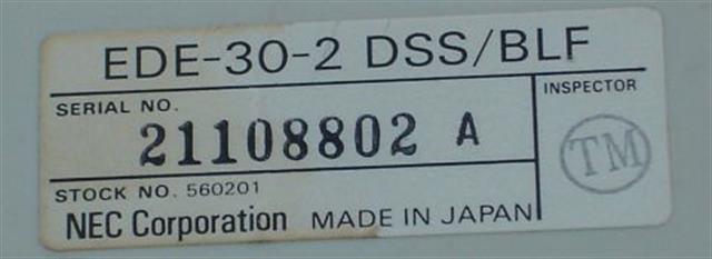 NEC EDE-30-2 (560201) 30 Vutton DSS/BLF Console image
