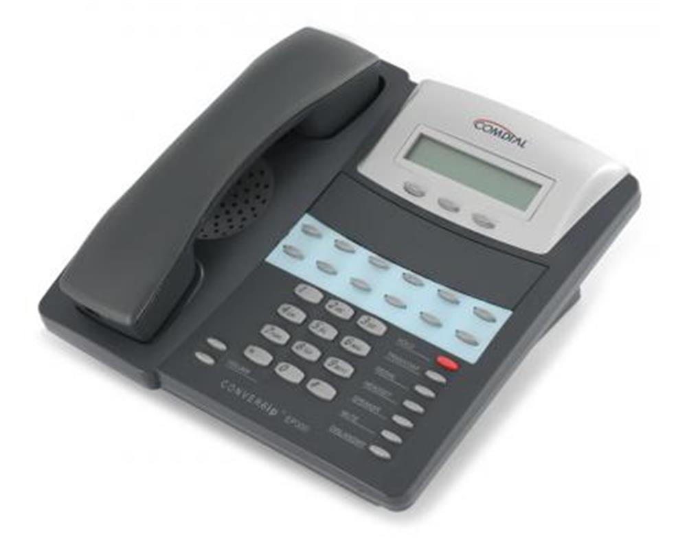 Comdial ConversIP EP300-12 Dark Grey SIP Telephone with 12 Silver Programmable Buttons, Display and Full Duplex Speakerphone image
