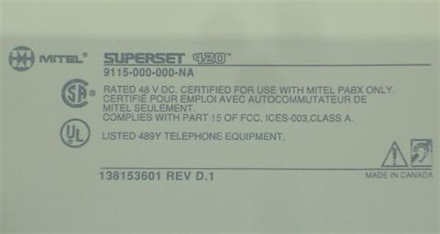 Mitel 9115-000-000-NA Phone image