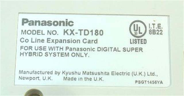 Panasonic KX-TD180 - 4CO Module image
