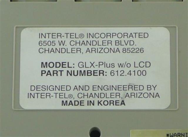 Inter-Tel 612.4100 (B-Stock) Phone image