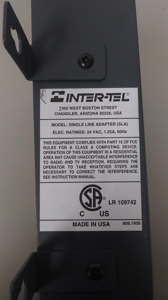 Inter-Tel 550.2500 Adapter image