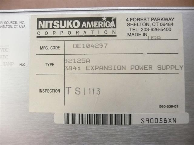 NEC - Nitsuko - Tie 92125A Power Supply image