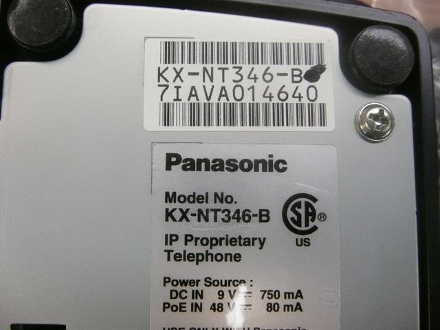 Panasonic NT300 Series KX-NT346-B Black 24 Button VoIP Telephone with Full Duplex Speakerphone and Display image