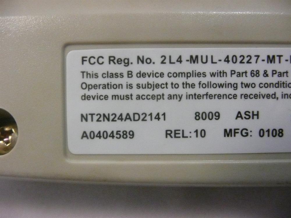 Nortel M8009 (NT2N24) B-Stock Ash Phone image
