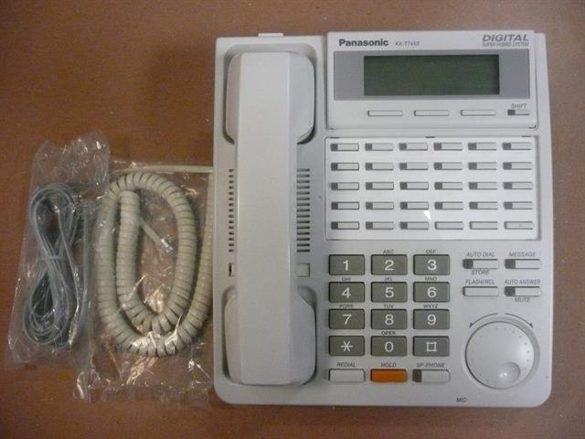 Panasonic KX-T7453 White 24 Button Digital Telephone with LCD image