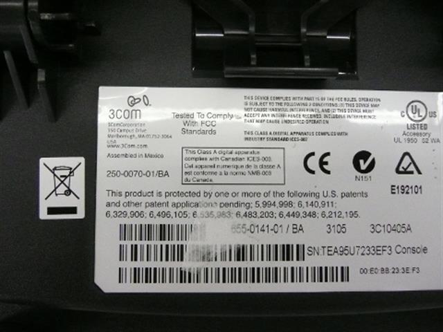 3COM 3C10405A / 655-0141-01 DSS image
