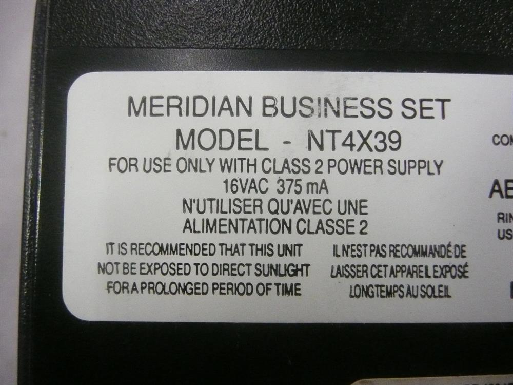 Nortel Meridian M5212 NT4X39 12 Button Telephone image